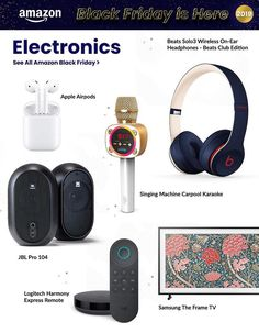 Amazon Black Friday Ad Scan, Deals and Sales 2019 The Amazon 2019 Black Friday ad is here! Be sure to subscribe to our newsletter to receive emails about all the latest Black Friday news and ad leaks ... #blackfriday #amazon Amazon Black Friday, Black Friday Ads, Beats Headphones, In Ear Headphones, Friday News, Framed Tv, Logitech, Karaoke, Personalized Items