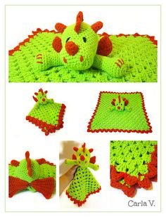 Dragon Crochet Lovey