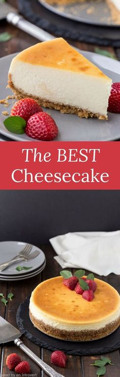 Learn how to make the best cheesecake with this melt in your mouth recipe!  via /introvertbaker/