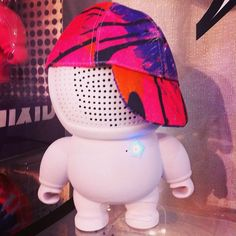 Sorry we missed you #falltoypreview2015 we will make it to the next #falltoypreview in #dallas #texas not currently on display @audiobots portable #bluetooth #stereo #vinyltoy #speakers with #fashionable #hats make your own personal music #minion #audiobots make a great #tech #toy #gift for #music fans of all genres whether blasting #hiphop #pop #rock from your #iphone or #funky #jams and #edm #techno #beats from a #tablet Audiobots love to #party and will rock your desk in your…
