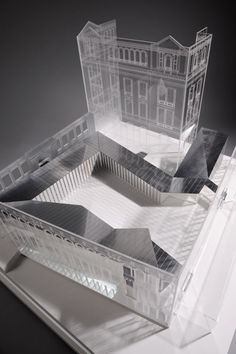 New Temporary Exhibition Space at the Victoria & Albert Museum Francisco Mangado 2010 Maquette Architecture, Architecture Sketchbook, Concept Architecture, Interior Architecture, Parametric Architecture, Architecture Images, Interior Design, Arch Model, Victoria And Albert Museum