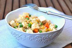 Tofu se zeleninou a celozrnnou rýží Tofu, Potato Salad, Potatoes, Ethnic Recipes, Potato