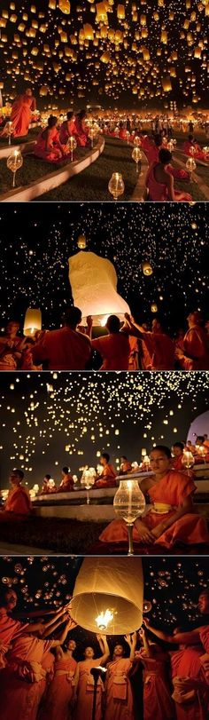 Lantern Festival in Thailand...@Kerry Aar Shanahan I CAN'T wait to see this in person together!