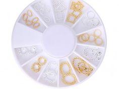 48 Stück Nail Art Metall Plating in Farben Gold Silber AP-64