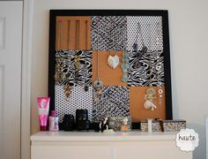 How to make a DIY Necklace Organizer for under  {Tutorial by Haute|31}