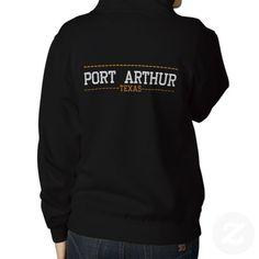 Port Arthur Texas USA Embroidered Women's zip hoodies