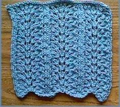 Free Knitting Pattern - Dishcloths & Washcloths : Ostrich Plume Dish Cloth There are over 100 patterns at this site.