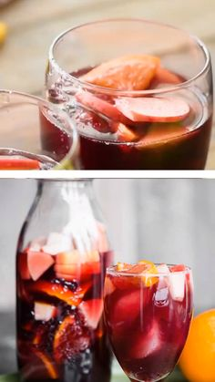 This red wine sparkling sangria recipe is a fabulously easy make-ahead cocktail! This recipe is made with your favorite Sweet Sangria Recipe, Spanish Sangria Recipe, Red Sangria Recipes, Homemade Sangria, Coctails Recipes, Wine Recipes, Sangria Recipe Without Brandy, Winter Sangria, Moscato Sangria