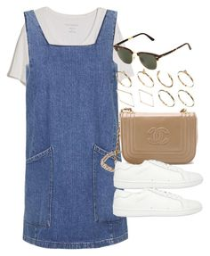"""Style #8798"" by vany-alvarado ❤ liked on Polyvore featuring Fine Collection, Topshop, Yves Saint Laurent, Ray-Ban and ASOS"