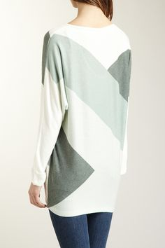 Colorblock Scoop Neck Dolman Sweater by Go Couture on @HauteLook