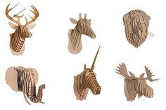 DIY Cardboard Animal Bust Project | Kids Crafts | Decor