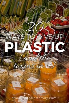 Because the toxins in plastic can cause health problems, it is important to avoid containers that leach chemicals like BPA, phthalates, lead and antimony into your food, water and the environment.
