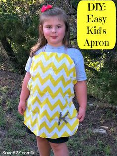 DIY Easy Kids Apron and you will never guess what I made it from!  Easy and Cheap too!