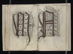 fols. 44v-45r Date: ca. 1510-1517 Gregorius Bock 16th century Medieval scribal pattern book