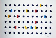 Yaacov AGAM serigraphy Pour Garcia Lorca