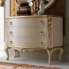 High End Rococo Chest of Drawers