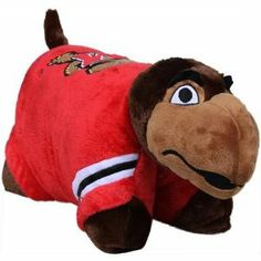 NCAA Maryland Terps Pillow Pet by Fabrique Innovations. $29.99. Licensed product!. Plush pillow with foam filling. Hook & loop fastener to stand upright. Felt applique detailing. Quality embroidery. Show your NCAA team spirit with a whimsical Mascot Pillow from Northwest! This adorable pillow displaying the college team logo on the front and is made up of 100% polyester. These guys are cute and cuddly and make terrific room accents. These pillows are plush material with a p...