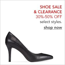 Shoe Sale and Clearance 30 percent-50 percent off, select styles, shop now