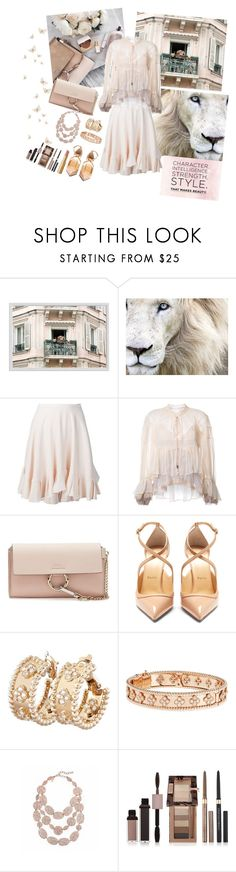 """Character, Intelligence, Strength, Style, That Makes Beauty"" by jeanine65 ❤ liked on Polyvore featuring Pottery Barn, Chloé, Christian Louboutin, Van Cleef & Arpels, Oscar de la Renta, Physicians Formula and Too Faced Cosmetics"