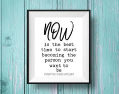 Inspirational Quote. Wall art typography. Cubicle office decor ideas