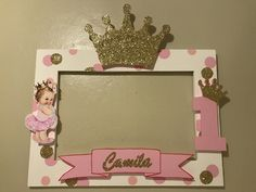 Princess crown photobooth frame