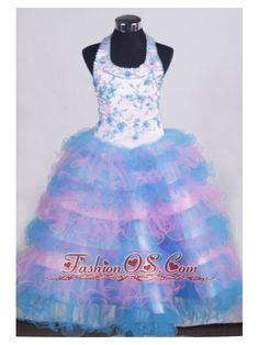 Beading and Appliques For Little Girl Pageant Dresses With Ruffled Layers- $179.99  www.fashionos.com  Nashville toddler pageant dresses with high quality