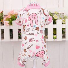 Soft Pet Cat Cozy Dog Jumpsuit Pajamas Pet Star Rabbit T-shirt Apparel Clothes #Affiliate