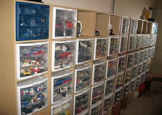 Like this Lego storage idea & Anton Galkin - Lego Storage Chest Even though he uses this for Legos ...