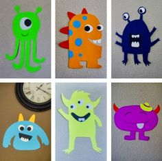 Poster board monster party decorations