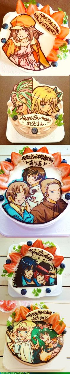 These cakes are literally works of art! Also, I really want the hetalia one!