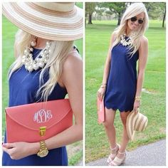 Loving COBALT this season.this ensemble is very summer! Derby Attire, Kentucky Derby Outfit, Derby Outfits, Classy Dress, Classy Outfits, Cute Outfits, Classy Clothes, Tea Party Outfits, Derby Day
