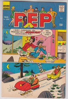 Pep Comics - Pep Comics - The Scrimmage Image released by Archie Comics on March Pep Comics (Archie) - Archie - Good Night Ronnie Wherever You Are - 6 pages. Archie Comics Characters, Archie Comic Books, Cartoon Books, Jughead Comics, Archie Jughead, Teen Series, Dan Decarlo, Story Titles, Betty And Veronica
