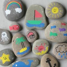 Love the great outdoors? Inspire your kids imagination with these fun camping crafts for kids, easy ideas they'll adore including campfire crafts, tents, lanterns and more. Campfire Crafts For Kids, Camping Crafts, Diy Crafts For Kids, Turtle Painting, Pebble Painting, Pebble Art, Stone Painting, Painting Art, Turtle Painted Rocks