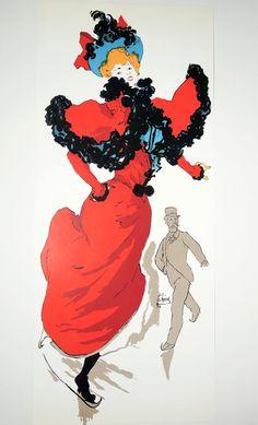 Vintage Belle Epoque Poster   Jules Cheret  by AtomicPoodleVintage