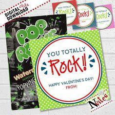 You Rock Valentine - Pop Rocks Valentine Cards