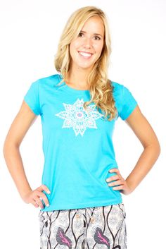 Yes please! Blue Fair-Trade Organic Cotton Tee