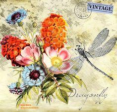 MI MALETA DE RECORTES: Más Láminas con Flores, Pájaros y Mariposas