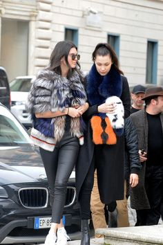 Kendall Jenner and Bella Hadid in Rome the 10th March 2016