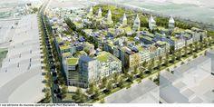 Perspective d'ensemble du quartier République -  Architecte Nicolas Michelin