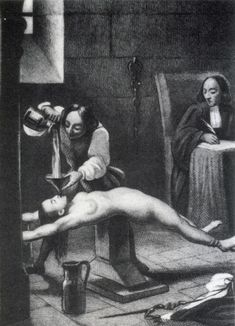The Roman Catholic Inquisitions - water torture. That doesn't look pleasant. Elizabeth Bathory, Spanish Inquisition, Maleficarum, Religion, Knights Templar, Persecution, Dark Ages, Roman Catholic, Witches