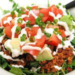 Raw Taco Salad - this vegan recipe is truly delicious.  Don't skip the cashew sour cream - it's worth it.