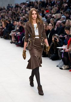 Ribbed tights. Burberry Fall 2012