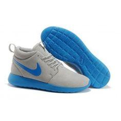 Helt nye Nike Roshe Run Mid Lysgrå Blå Herre Skobutik | Køligt Roshe Run Mid Skobutik | Nike Skobutik Til Salg | denmarksko.com