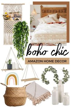 With all this time at home, I've been sprucing up some areas around my apartment to make them a little more cozy. I ordered a few sma... Boho Chic Bedroom, Boho Room, Boho Living Room, Diy Bedroom Decor, Boho Chic Bedding, Boho Chic Interior, Bedroom Ideas, Amazon Home Decor, Apartment Chic