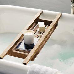 Run a bath (Wooden Bath Tidy | The White Company)