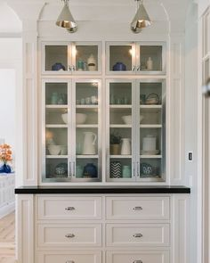 Dining Room Built In Cabinets And Storage Design (9 | Pinterest ...