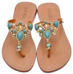 Mystique Bollywood Superstar Jeweled Sandals #1856