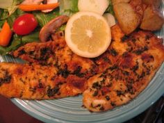 Broiled Tilapia Recipe- tried this tonight and added Old Bay.  Delicious!