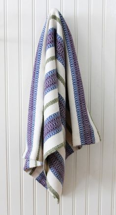 Ribbon Towels designed by Carol Birtwistle woven in Valley Yarns 8/2 Cotton #WEBS40th
