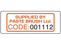 Assetmark+ serial number label (logo / full design), 19mm x 50mm. Available here: http://www.labelsource.co.uk/labels/assetmark--serial-number-label--logo---full-design---19mm-x-50mm/sx23